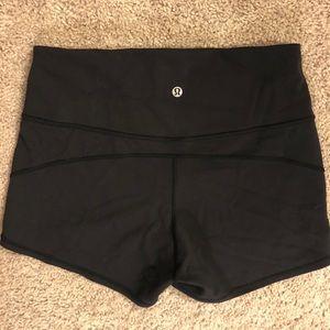 Size 10 lululemon in movement Everlux shorts